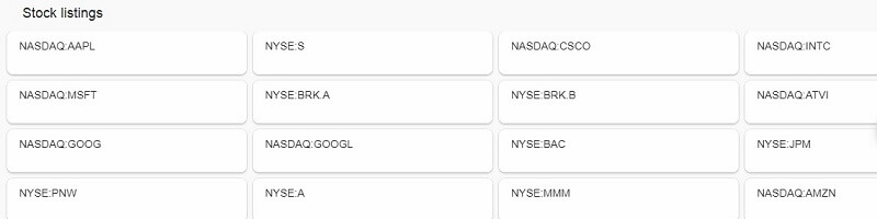 Stock listing