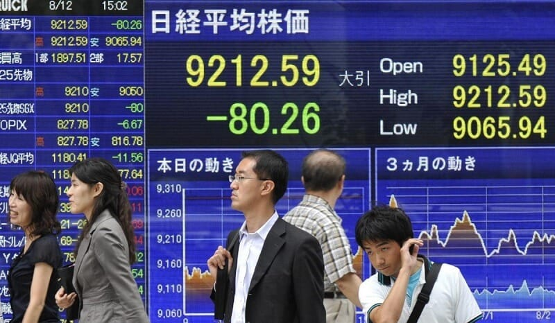 Asian stock markets recorded substantial increases